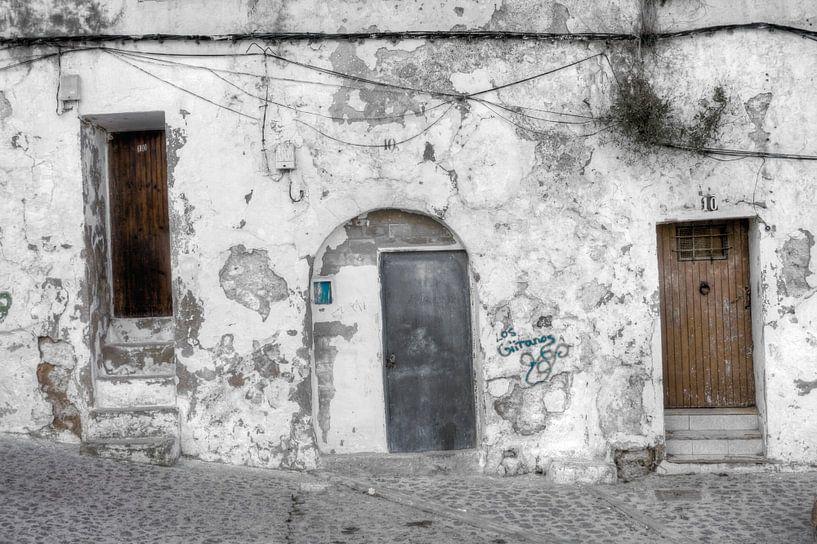 HDR foto van een wit huis op het eiland Ibiza van Wijbe Visser