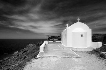Kapelle in der Nähe von Fokia, Karpathos, Griechenland von Peter Baak