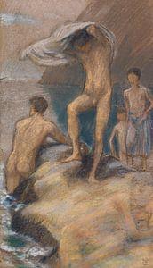 Badende Knaben, LUDWIG VON HOFMANN, Ca. 1890