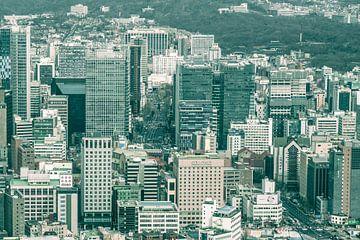 Hoogbouw in Seoul, Zuid Korea van Mickéle Godderis