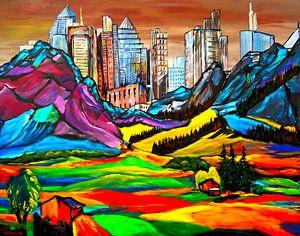 Die Stadt hinter den Bergen