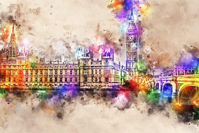 Palace of Westminster - Londen (zonder tekst) van Sharon Harthoorn