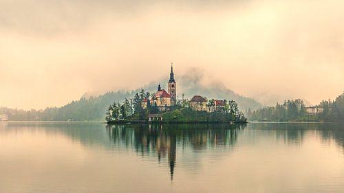 Bled in de mist van Kurt De Schuytener