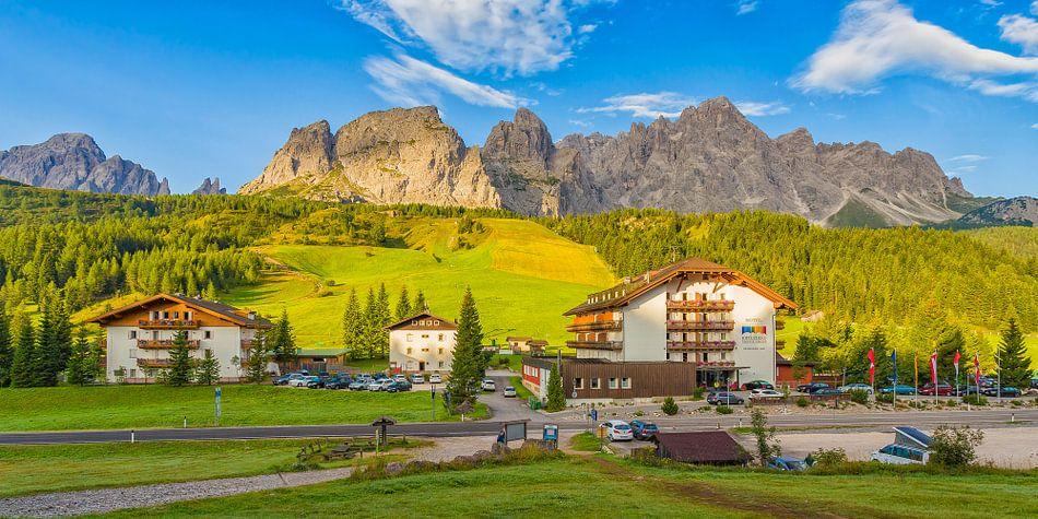 Hotel in de Dolomieten, Italië