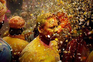 Midden in het Holi festival India