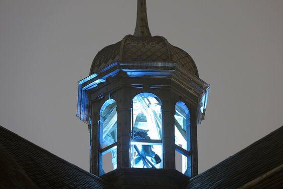 Klokkentoren Pieterskerk in Utrecht van Donker Utrecht