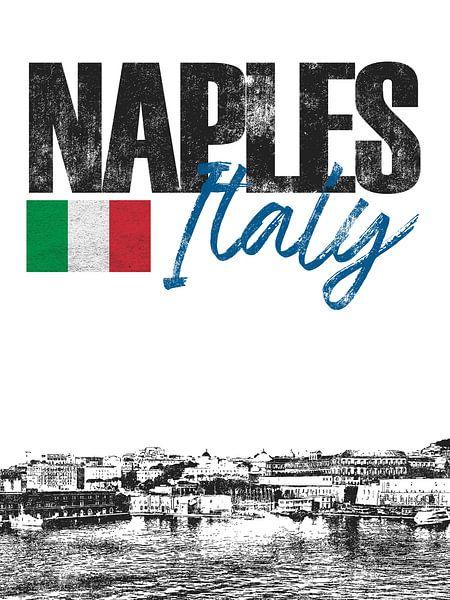 Napels Italië van Printed Artings