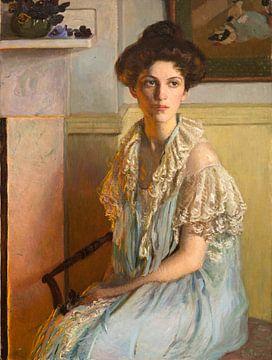 Dame mit einer Schale Veilchen, Lilla Cabot Perry