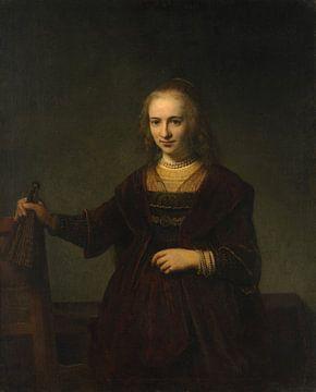 Porträt einer Frau, Stil von Rembrandt