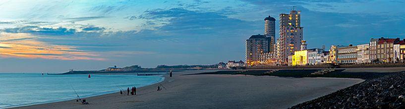 Panorama Strand Vlissingen. van Anton de Zeeuw