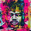 Jimi Hendrix Pop Art 0920016 van Felix von Altersheim thumbnail