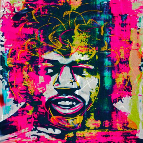 Jimi Hendrix Pop Art 0920016 van Felix von Altersheim