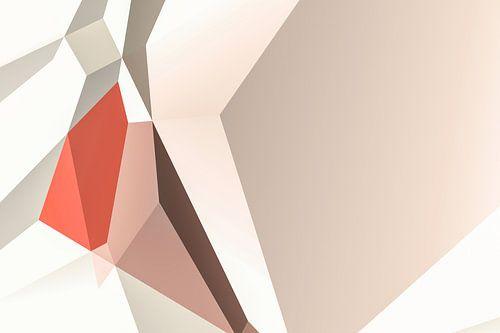 Warme abstrakte Polygone