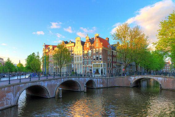 Keizersgracht bruggen Amsterdam van Dennis van de Water