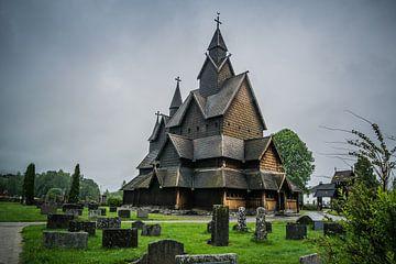Staafkerk Heddal van Sylvia Schuur