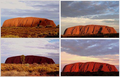 Kleurenspectrum van Uluru Ayers Rock, Australië