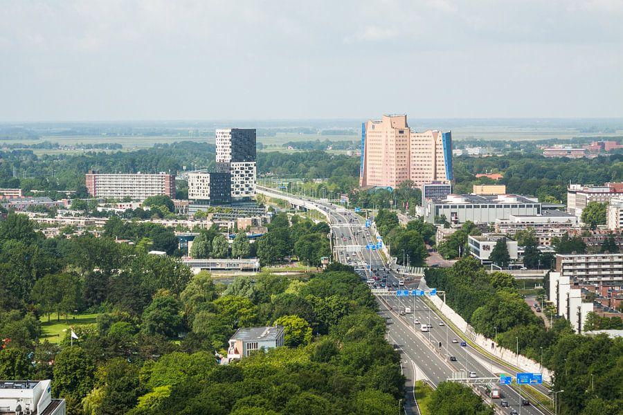 Uitzicht op de Zuidelijke Ringweg Groningen van Frenk Volt