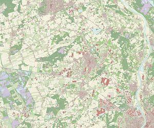 Kaart vanHorst aan de Maas van