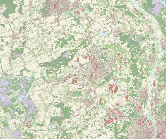 Kaart vanHorst aan de Maas van Rebel Ontwerp