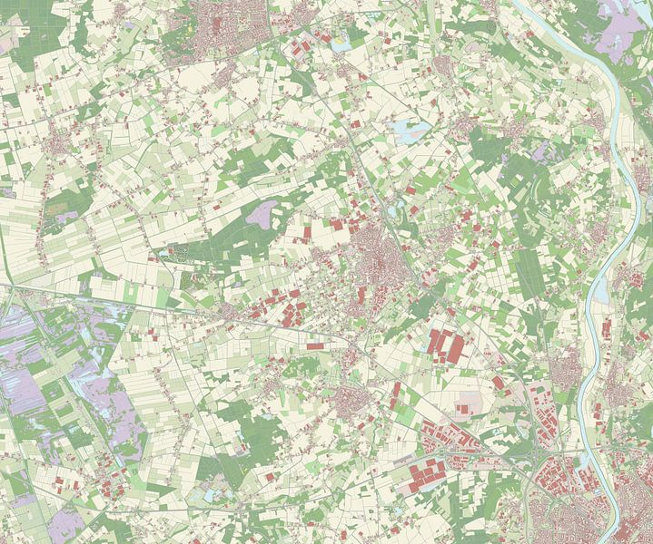 Kaart vanHorst aan de Maas