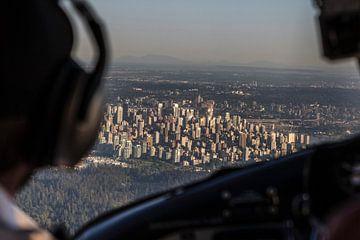 Vancouver vanuit een vliegtuig
