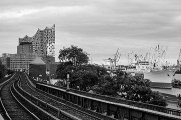 Hamburg Landungsbrücken Elbphilharmonie von Der HanseArt