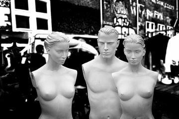 Flohmarkt, Amsterdam (Schwarz-Weiß) von Rob Blok