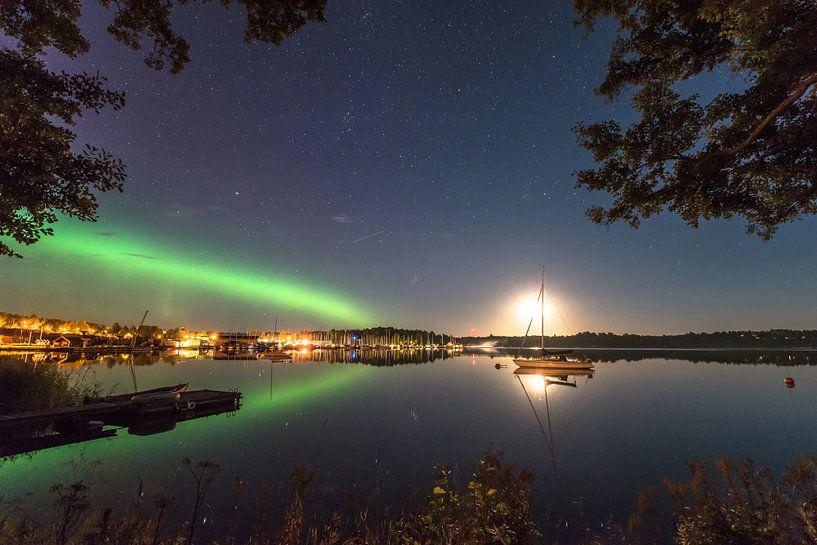 Nördliche Lichter über Loftahammar von Marc Hollenberg