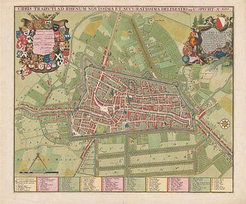 Plattegrond van de stad Utrecht, Jan van Vianen, 1695