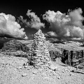Mystiek panorama van de Dolomieten van Rudolf Brandstätter