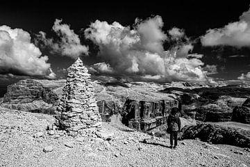 Mystiek panorama van de Dolomieten