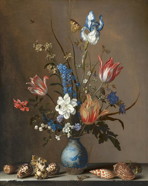 Bloemen in een Wan-Li vaas en schelpen, Balthasar van der Ast sur Meesterlijcke Meesters