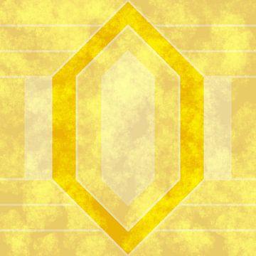 Abstract geel in Art Deco stijl van Maurice Dawson