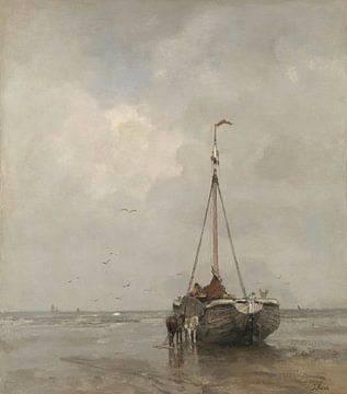 Bomschuit am Strand von Scheveningen, Jacob Maris