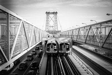 Williamsburg Bridge, New York in schwarzweiß von Sascha Kilmer