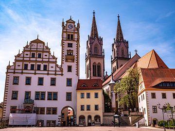Rathaus und St. Aegidien Kirche in Oschatz Sachsen von Animaflora PicsStock