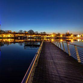 skyline van Potsdam in het blauwe uur van Frank Herrmann
