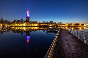 La ligne d'horizon de Potsdam à l'heure bleue