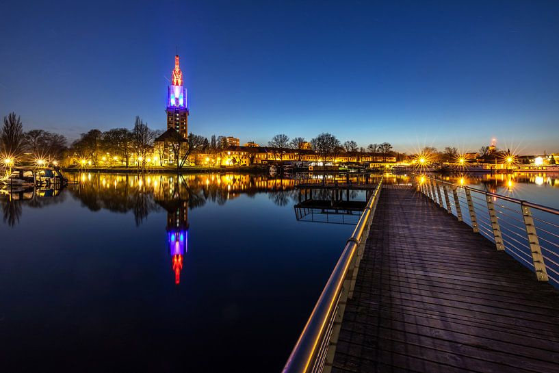 La ligne d'horizon de Potsdam à l'heure bleue sur Frank Herrmann