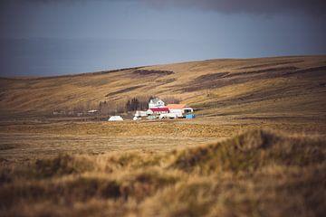 Typisches Haus in Island von Jonathan Verhoeven
