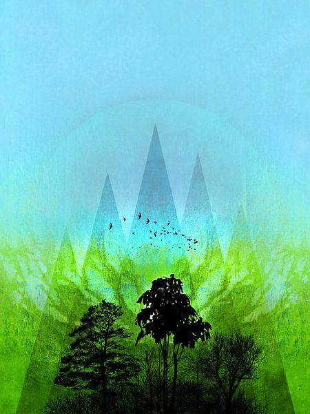 TREES under MAGIC MOUNTAINS V-HF-GREEN van Pia Schneider
