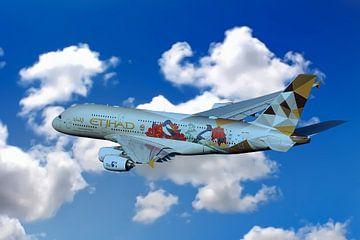 Etihad Airbus A380 von Gert Hilbink