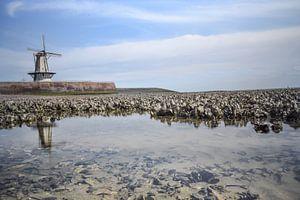 Molen aan het strand in Vlissingen van
