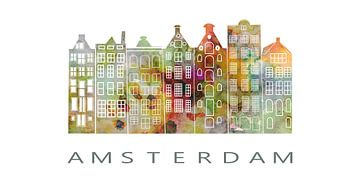 Amsterdam. Pakhuizen bij het Damrak van