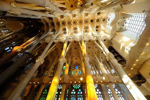 De Sagrada Familia in Barcelona (3) van Merijn van der Vliet