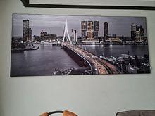 Kundenfoto: Skyline Rotterdam bei Nacht - Rotterdam Finest! von Sylvester Lobé, als akustikbild