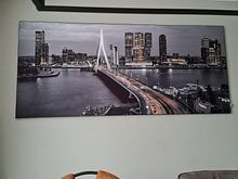 Klantfoto: Skyline Rotterdam by Night  - Rotterdams Finest !   van Sylvester Lobé, als print op doek