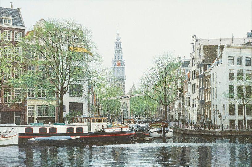 Schilderij: Amster-Groenburgwal, Amsterdam van Igor Shterenberg