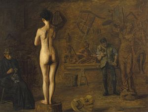 William Rush Carving His Allegorical Figure of the Schuylkill River, Thomas Eakins