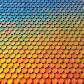 Regenboogmuur in Gangnam,  Seoul van Erwin Blekkenhorst